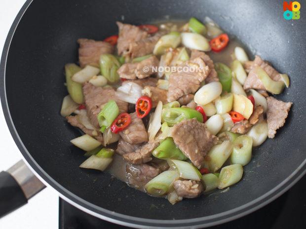 Stir-fry Pork with Negi (Japanese Scallion) Recipe