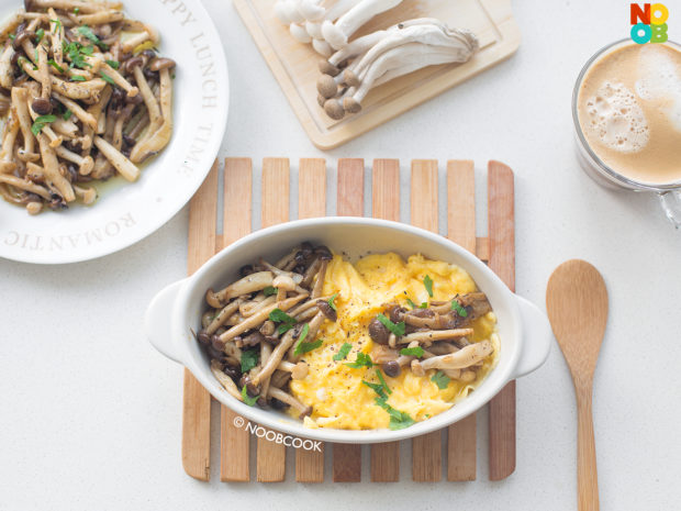 Butter Hon Shimeji Mushrooms (with Scrambled Eggs)