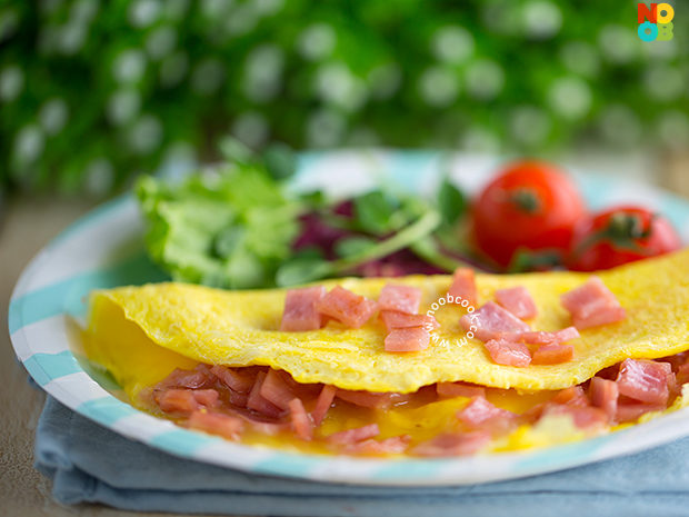 Ham & Cheese Omelette Recipe