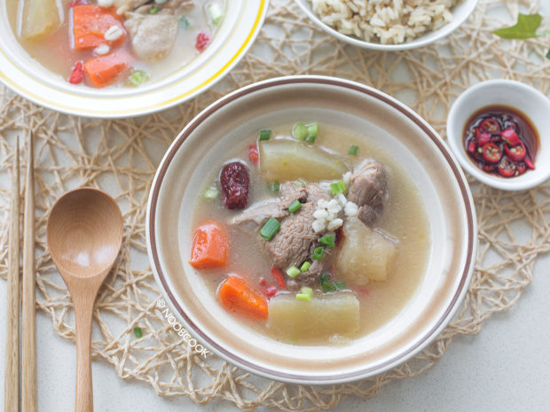 Chinese Soup with Barley