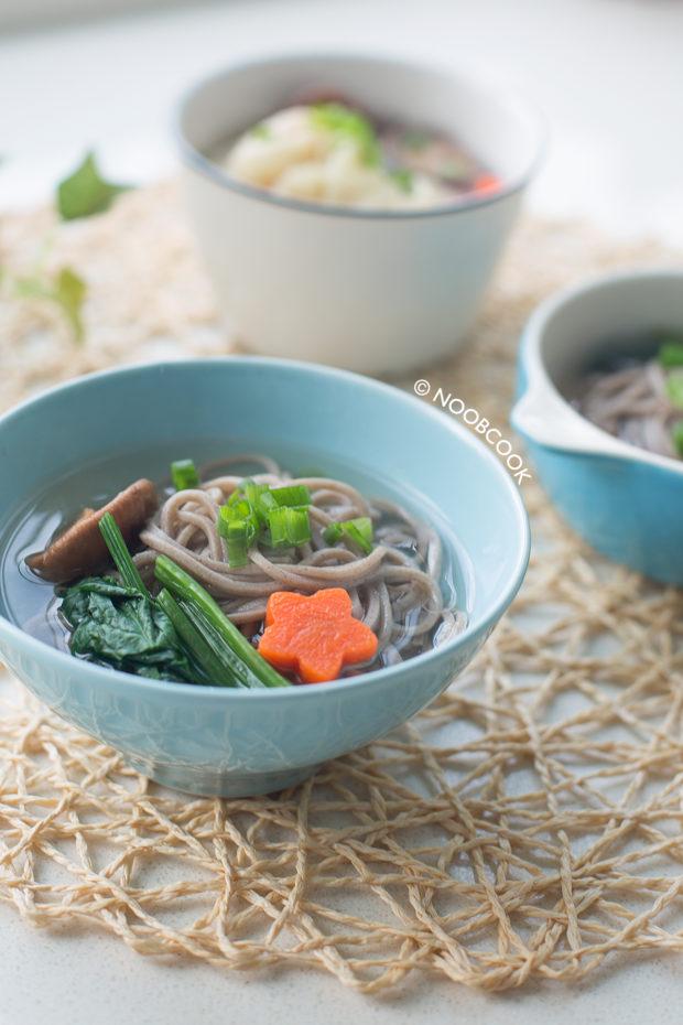 Cheater Shrimp Wonton Soba Noodle Soup Recipe
