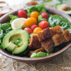Crackling Roast Pork Salad Recipe