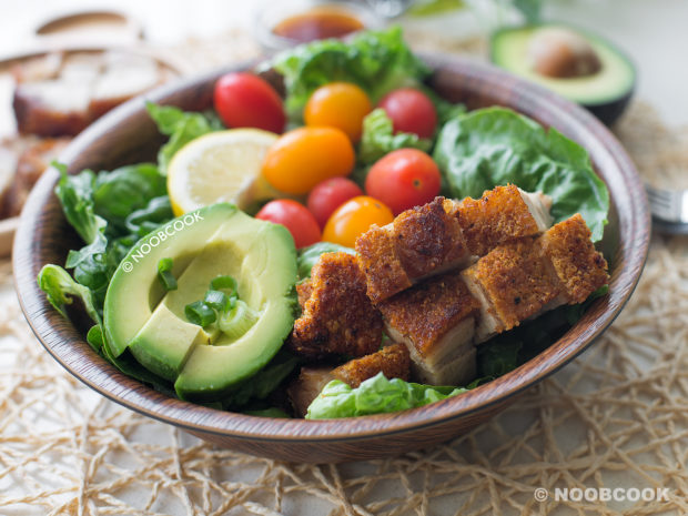 Crackling Roast Pork Salad Recipe