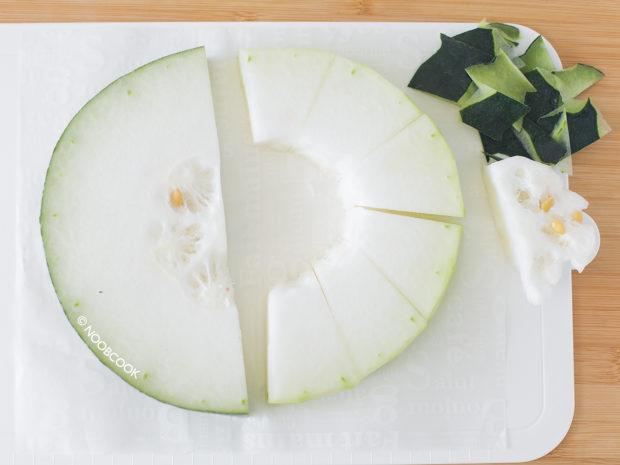 Cutting Winter Melon