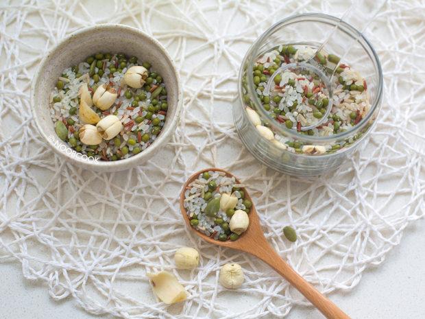 Green Bean Multigrain Porridge Ingredients