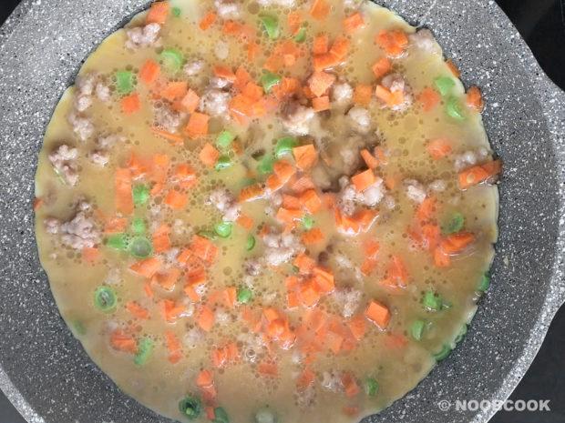 One-Pan Omelette (Mince Pork) Step 4