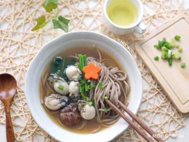 Oyster Soba Noodle Soup Recipe