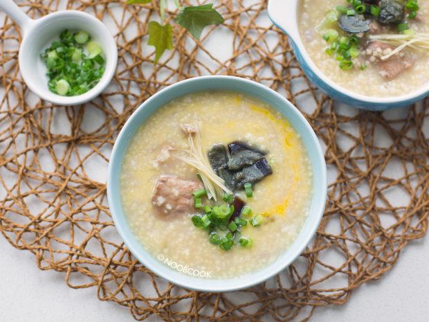Pork & Century Egg Millet Porridge with Egg