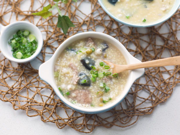 Pork & Century Egg Millet Porridge Recipe
