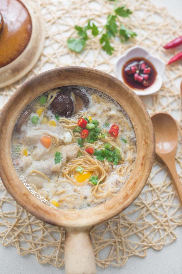 Claypot Chicken Yi Mien Recipe