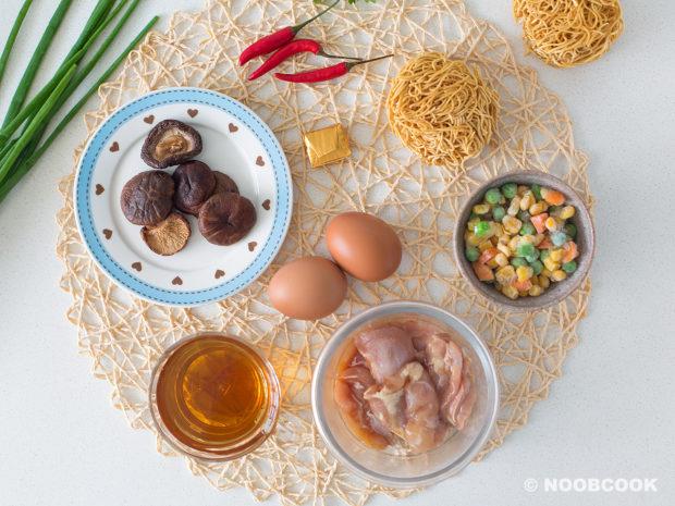 Claypot Chicken Yee Mee Ingredients