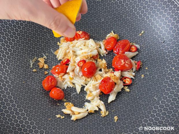 Crab Tomato Spaghetti Recipe (Step 4)
