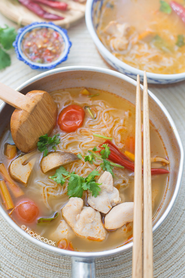 Low Carb Tom Yum Chicken Noodles Recipe