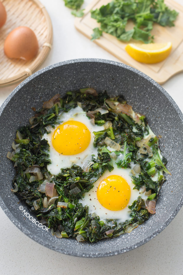 One-Pan Kale & Eggs Recipe