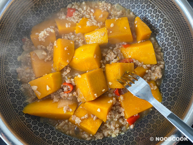 Simmered Pumpkin & Minced Meat (Step-by-Step)