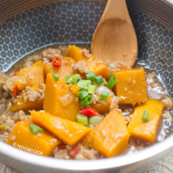 Simmered Pumpkin & Minced Meat Recipe