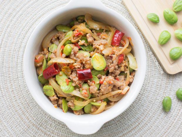 Stir-fry Chilli Petai & MInce Recipe