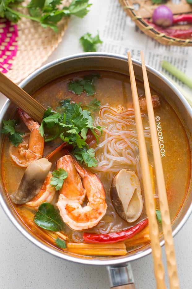 Tom Yum Shrimp Shirataki Noodles Recipe