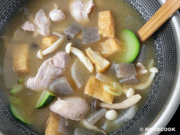 Low Carb Chicken & Veggies Miso Soup Recipe
