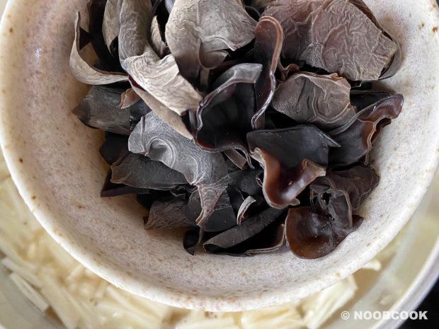 Enoki & Black Fungus Egg Drop Soup Recipe