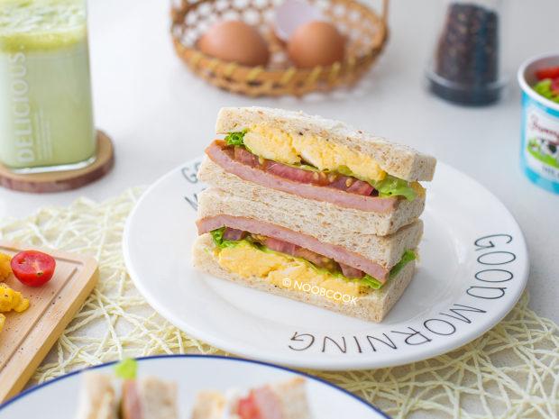 Luncheon Meat (Spam) Egg Sandwich Recipe