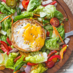 Italian Garden Salad with Baked Egg English Muffin Recipe