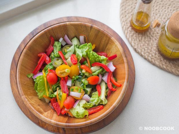 Italian Garden Salad Ingredients (Before Tossing)