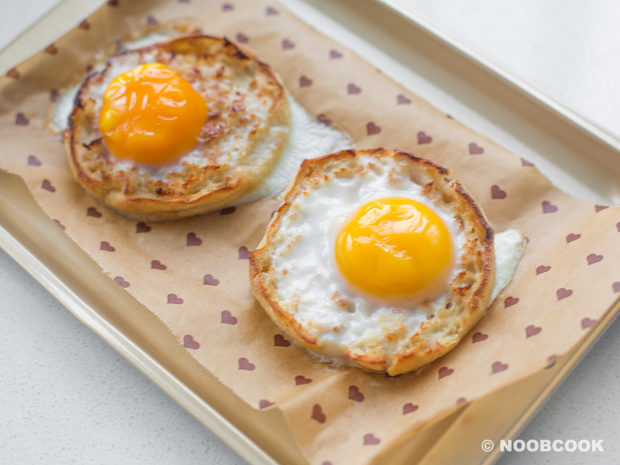 Baked Egg on English Muffin (After)