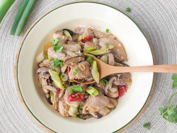Stir-fry Chicken, Shiitake & Scallion Recipe