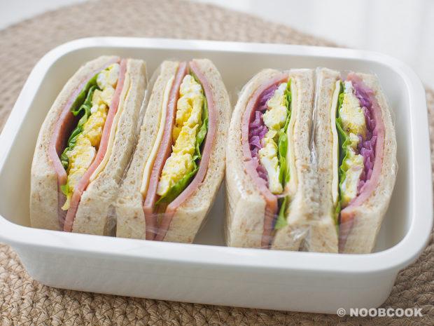 Ham & Cheese Egg Sandwich Recipe (For Lunch Box)