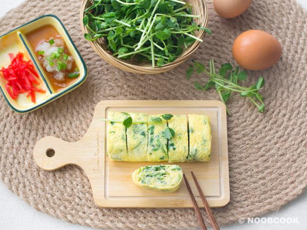 Pea Shoots Tamagoyaki Recipe