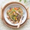 Salted Kelp Mushroom Sausage Pasta Recipe