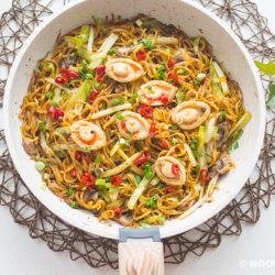 XO Sauce Ee-Fu Noodles Recipe