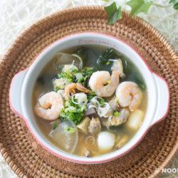 15-min Seafood Miso Soup Recipe