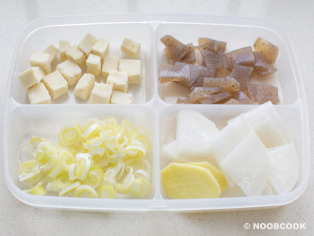Seafood Miso Soup Ingredients