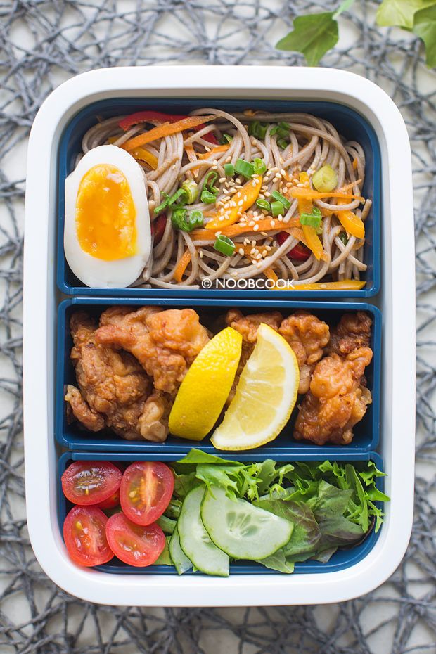 Sesame Soba Karaage Lunch Box Recipe