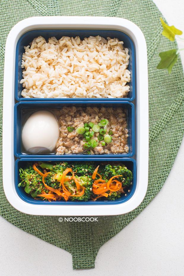 Shallot Sauce Minced Pork Rice (Lunch Box Recipe)