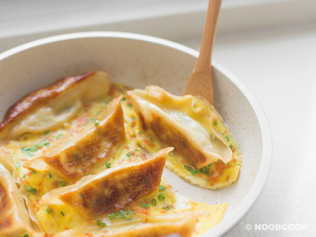 One-Pan Gyoza & Eggs Recipe