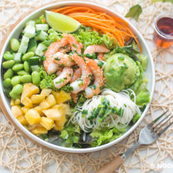 Scallion Shrimp and Somen Salad Recipe