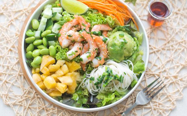 Scallion Shrimp and Somen Salad Recipe