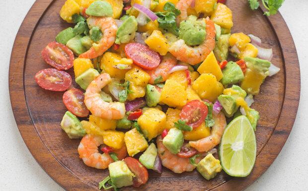 Shrimp Avocado Mango Salad Recipe