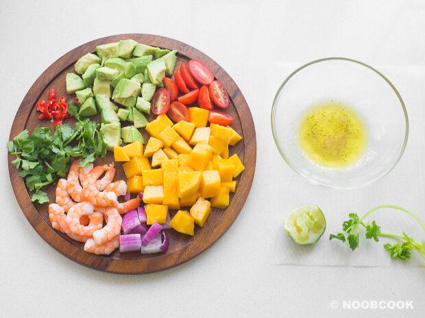 Shrimp Avocado Mango Salad Ingredients