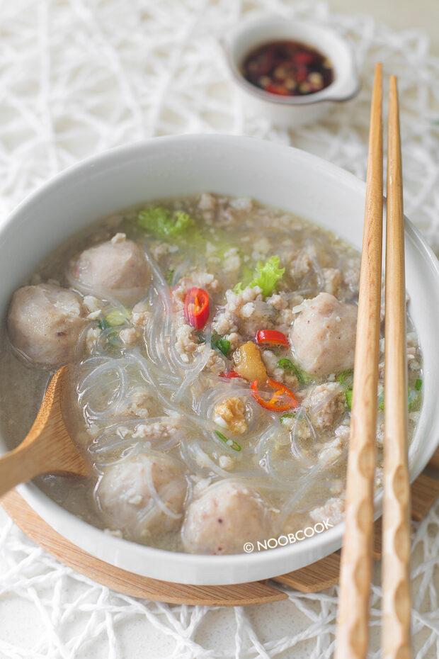 Glass Noodle Soup (Pork Ball) Recipe