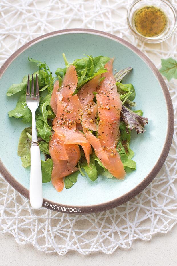 10-minute Smoked Salmon Salad Recipe