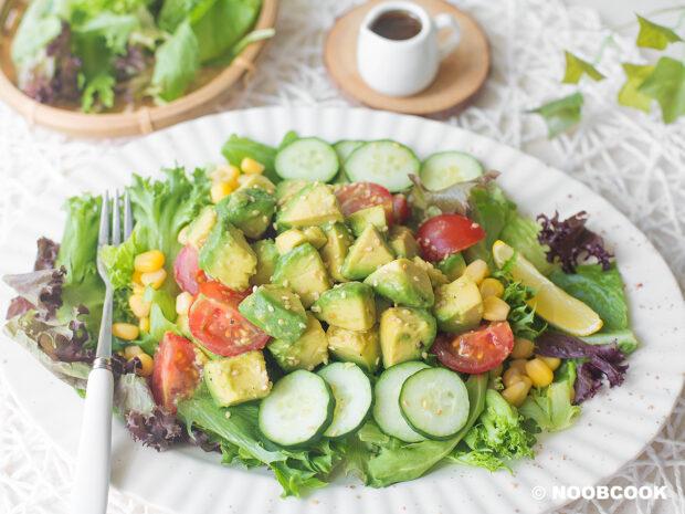 Avocado Wafu Salad Recipe