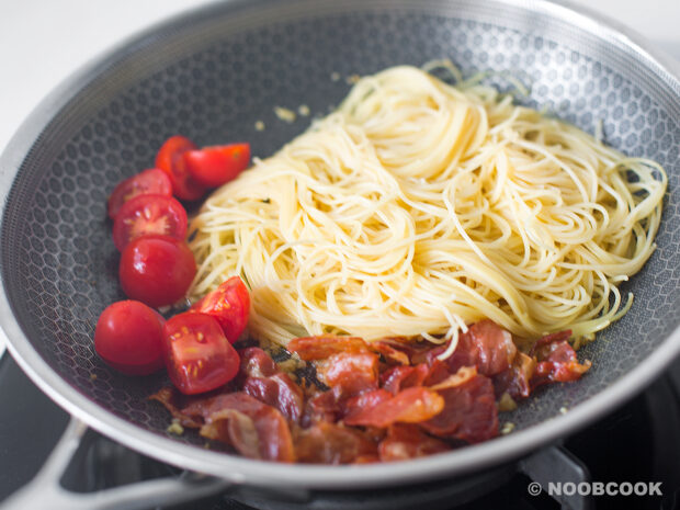 Parma Ham Pasta - Step by Step