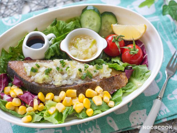 Convenient Fish Salad in Scallion Sauce Recipe