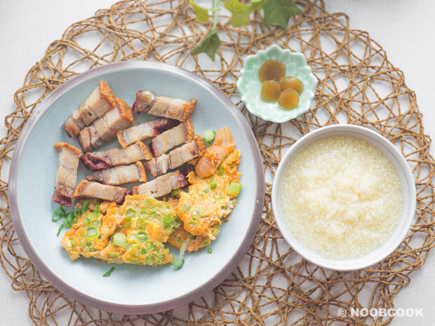 Kimchi & Green Bean Omelette Recipe