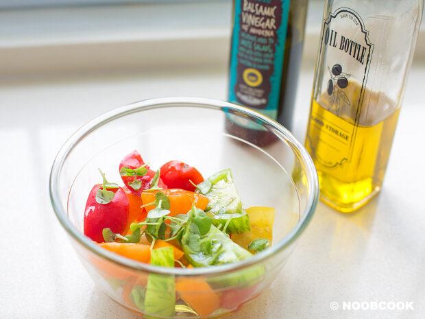 Making Heirloom Tomato Salad