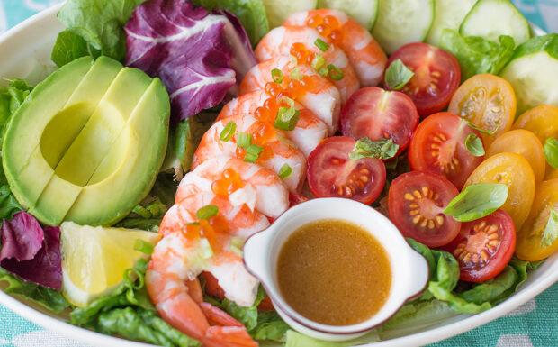 Shrimp Salad in Uni Dressing Recipe